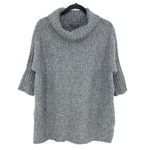 Eileen Fisher Alpaca Merino Wool Mock Neck Sweater